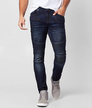 Crysp Denim Zane Biker Skinny Stretch Jean