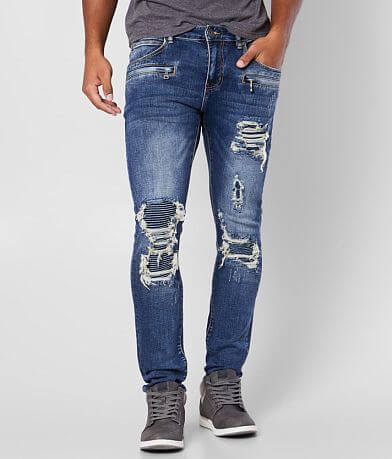 Crysp Denim Bridge Biker Skinny Stretch Jean
