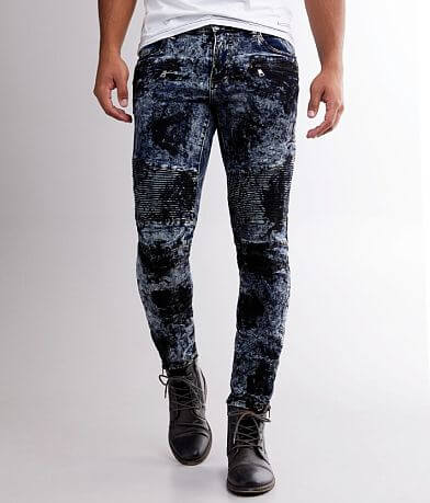 Crysp Denim Any Washed Moto Skinny Stretch Jean