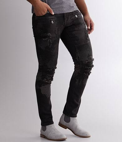 Crysp Denim Layton Moto Skinny Stretch Jean