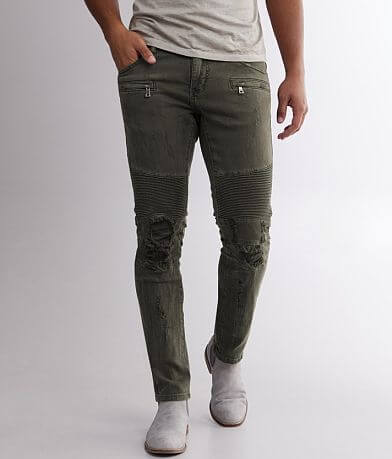 Crysp Denim Rogan Moto Skinny Stretch Jean