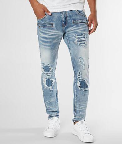 Crysp Denim Blanka Biker Skinny Stretch Jean