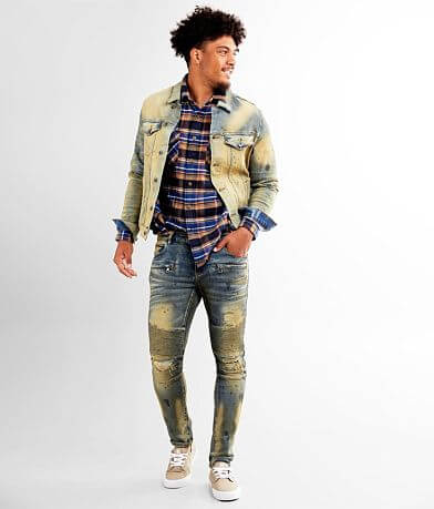 Crysp Denim Rowe Moto Skinny Stretch Jean