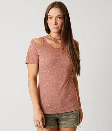 Modish Rebel Cut Out T-Shirt