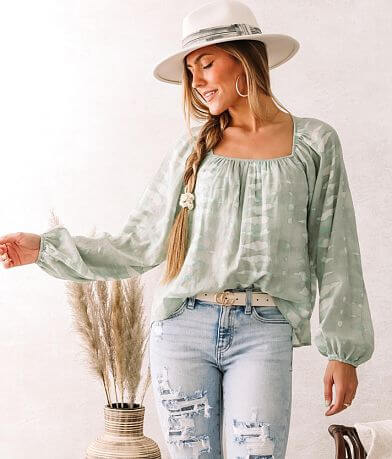 Willow & Root Ruched Open Back Flowy Top