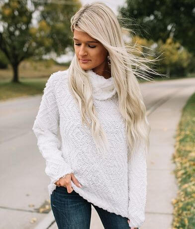 Willow & Root Diamond Loop Knit Sweater