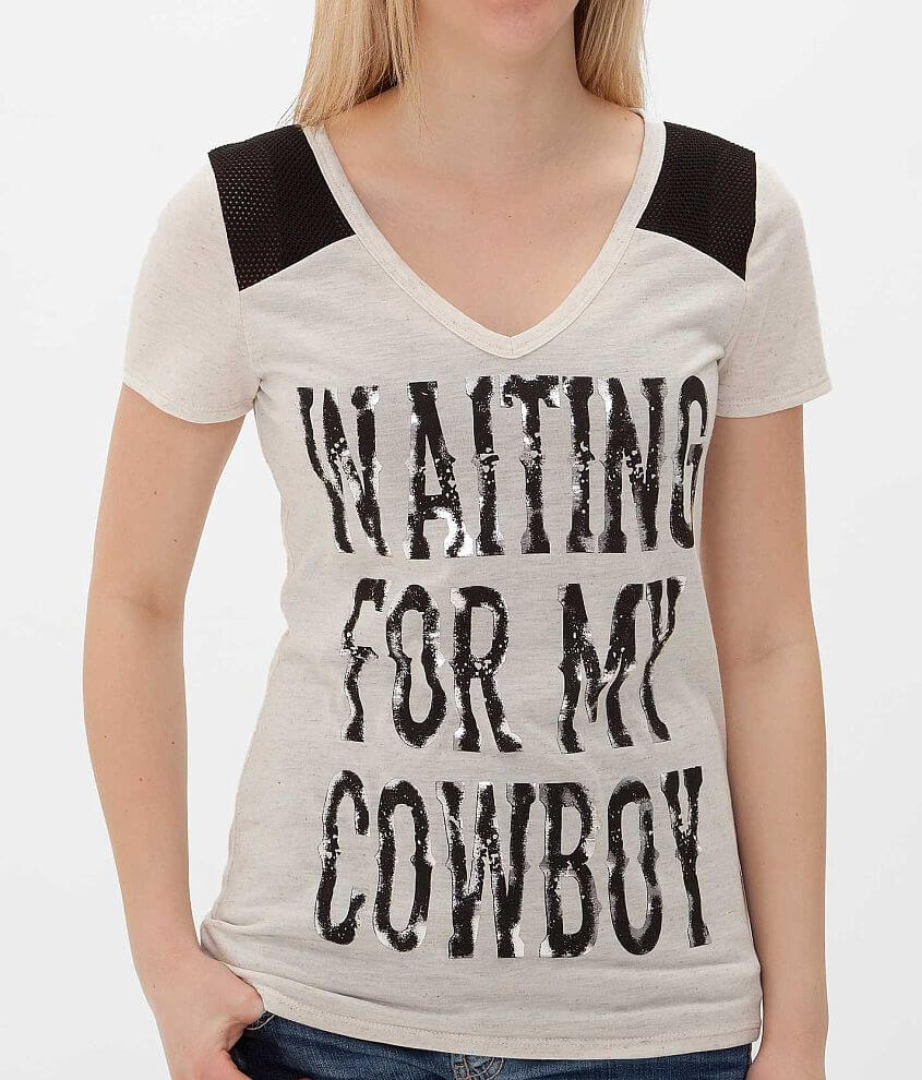 Daytrip Waiting For My Cowboy Top front view
