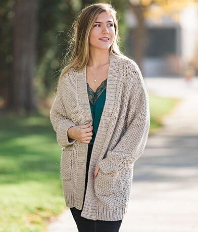 Willow & Root Basketweave Cardigan Sweater