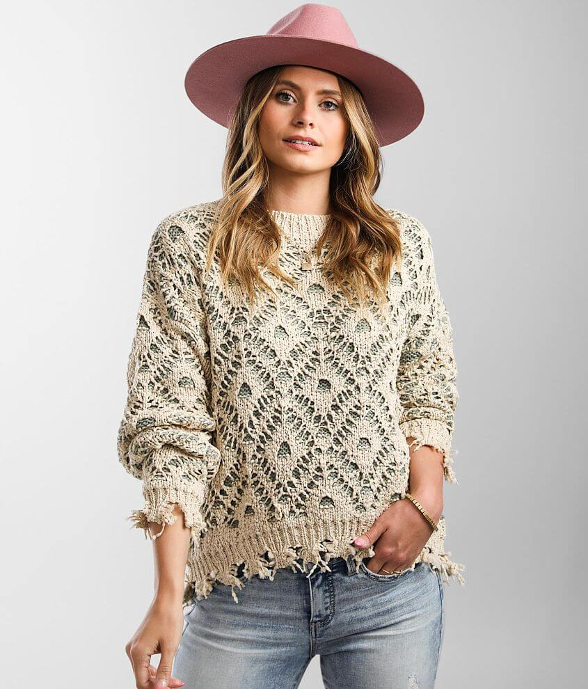 Gimmicks Chenille Color Pop Sweater front view