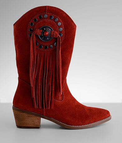 Dingo Takin' Flight Fringe Suede Western Boot