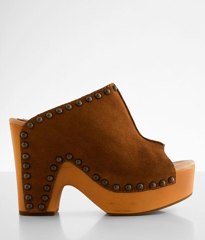 Dingo Peace N' Love Heeled Leather Clog front view