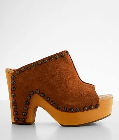 Dingo Peace N' Love Heeled Leather Clog