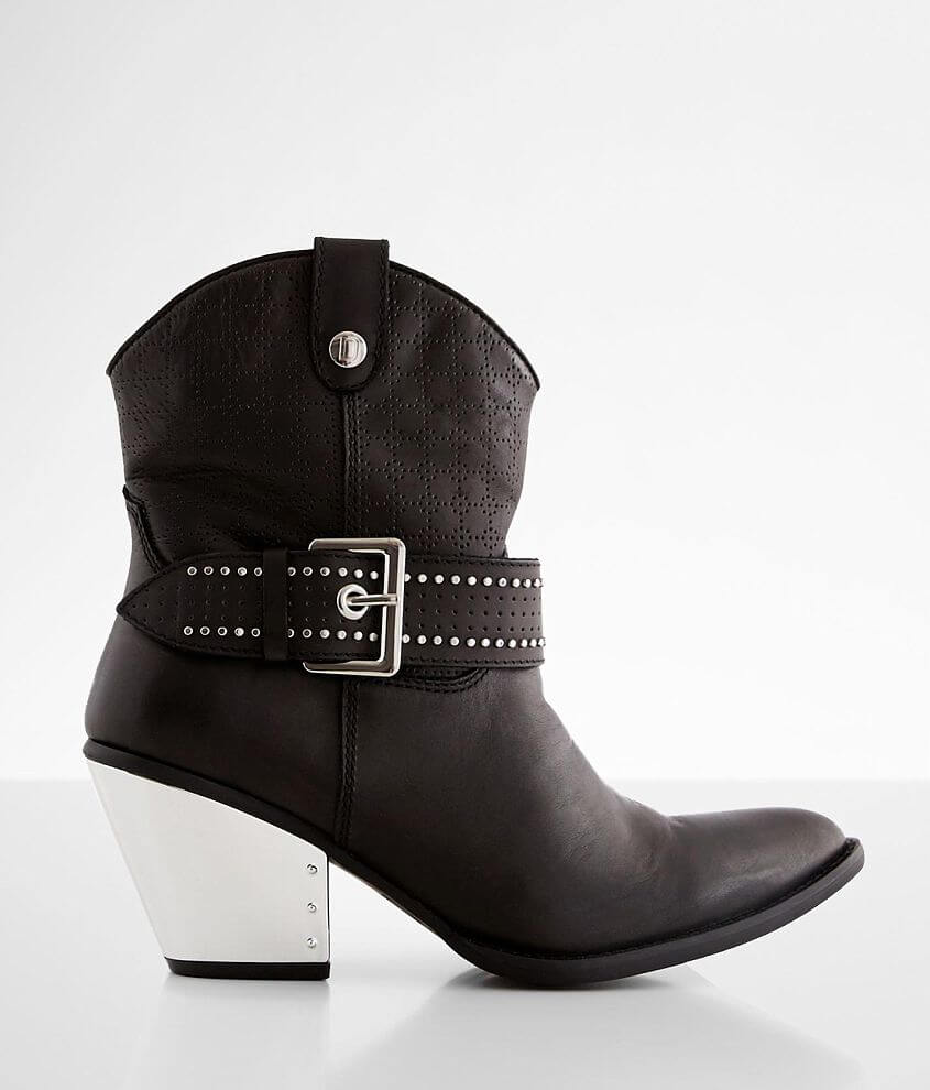 Dingo Backstage Leather Western Ankle Boot front view