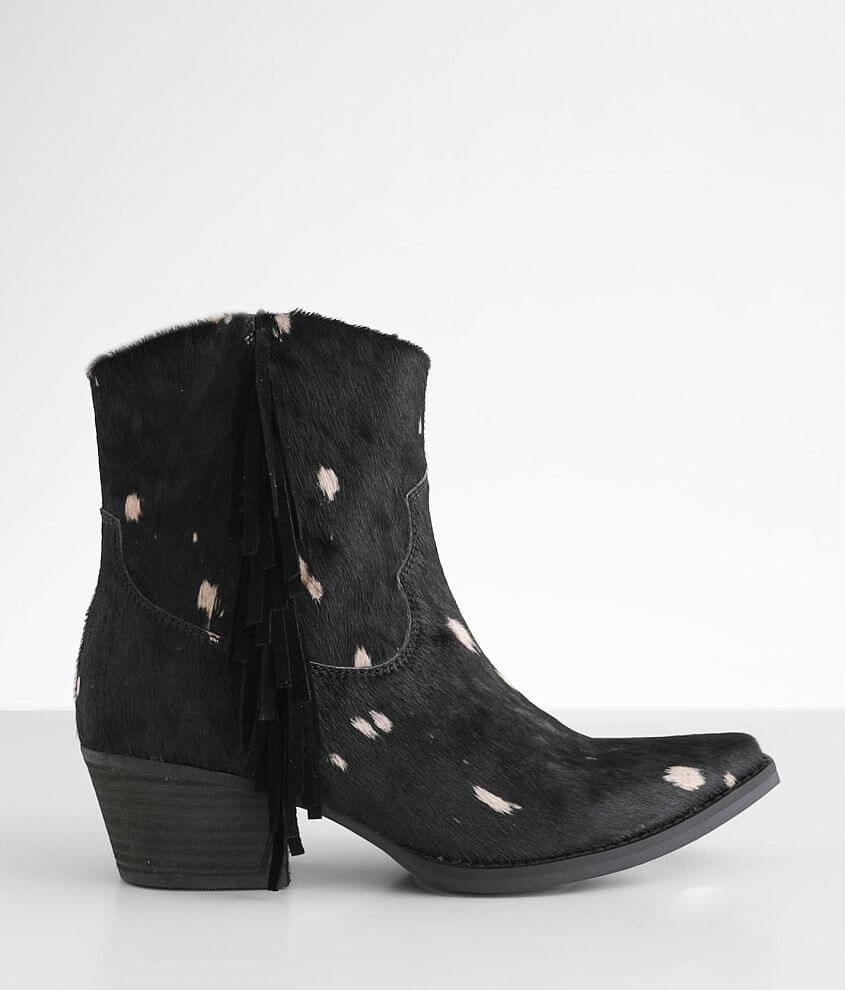 Dingo Hair We Go Leather Western Ankle Boot front view