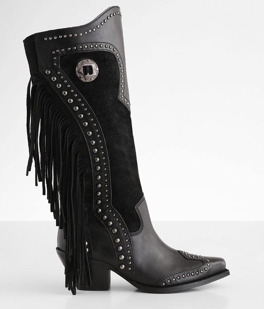Dingo Tahoe Fringe Leather Western Boot front view