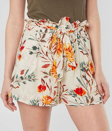 Dance & Marvel Floral Eyelet Paperbag Short