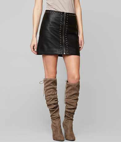 Dance & Marvel Faux Leather Skirt