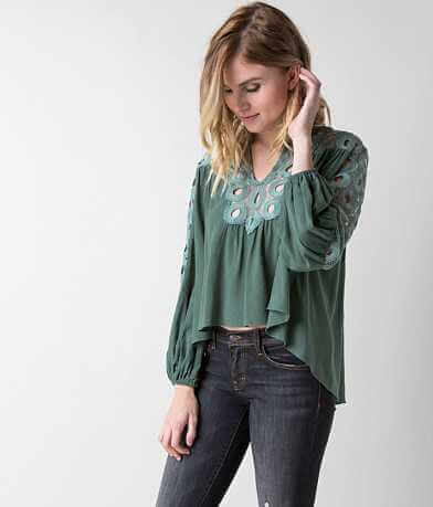Gimmicks Split Neck Top