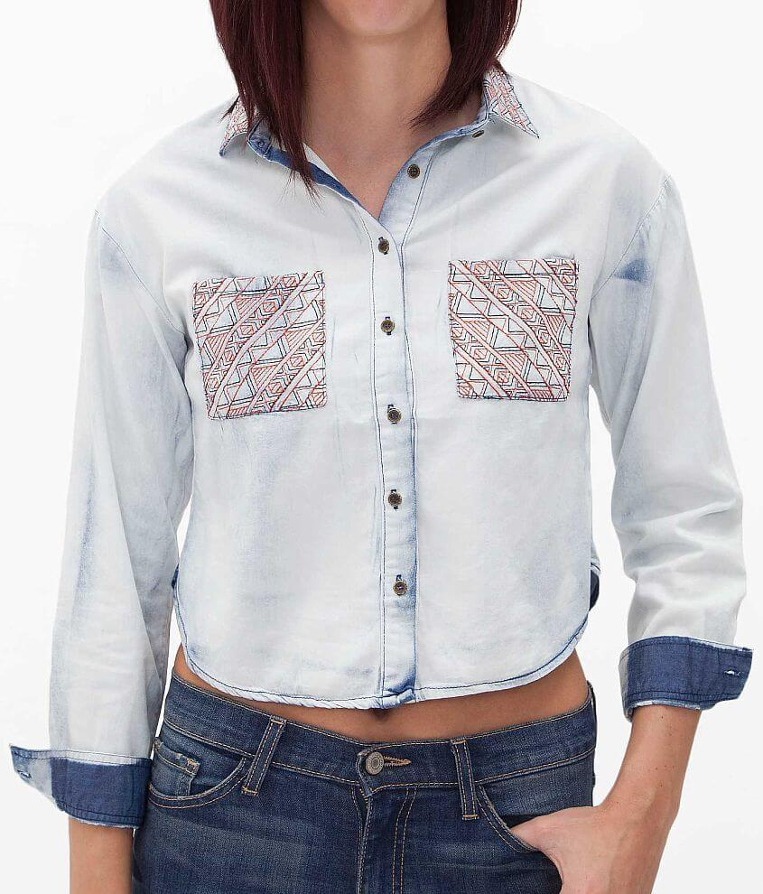 Dani Collection Embroidered Shirt front view