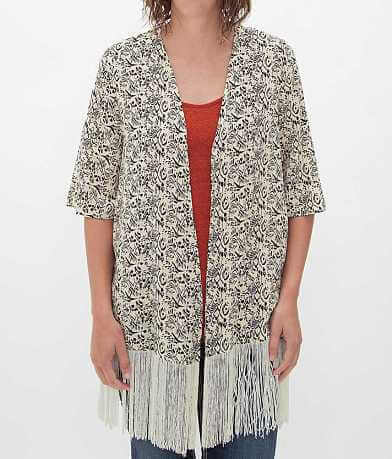 Dani Collection Fringe Cardigan