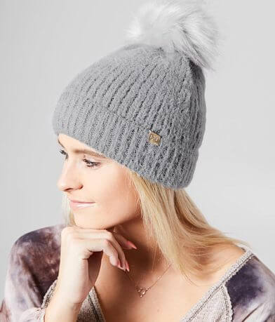David & Young Eyelash Yarn Beanie