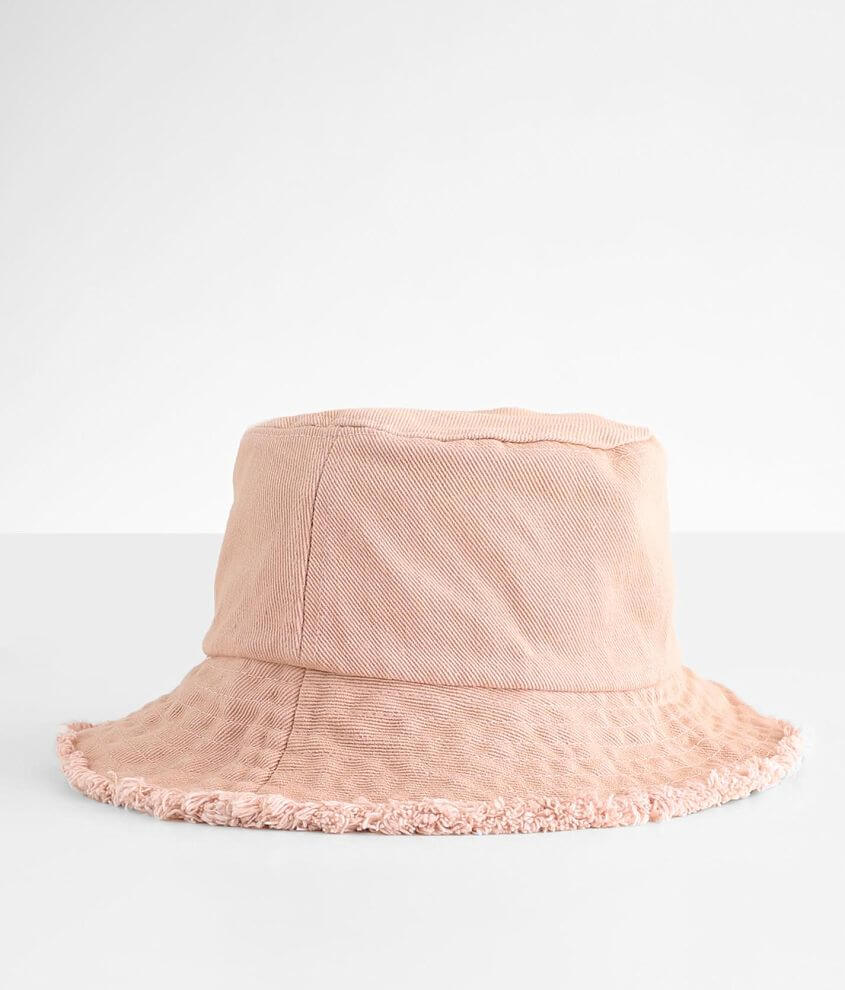 David & Young Frayed Bucket Hat front view