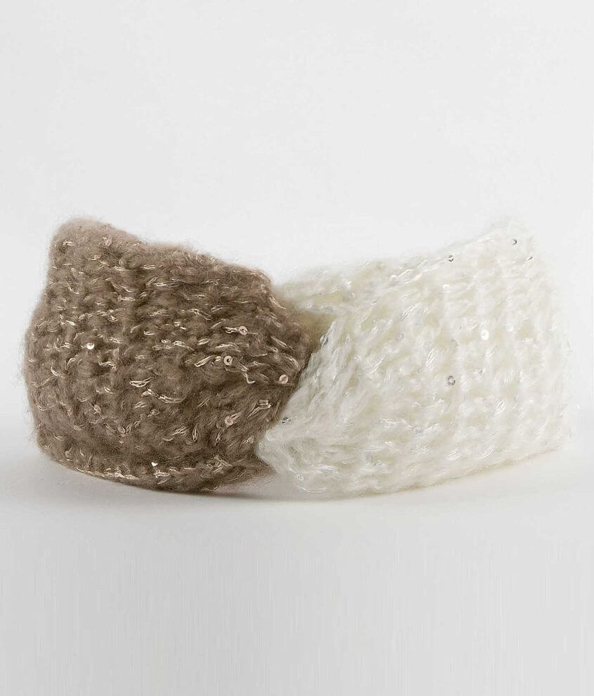 Two-Tone Ear Warmer front view