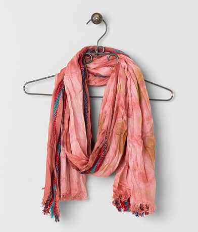 David & Young Embroidered Scarf