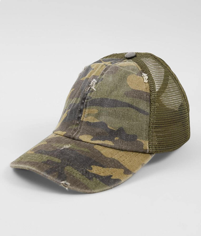 David   Young Camo Ponytail Baseball Hat - Women s Hats in Olive ... d0521243ba