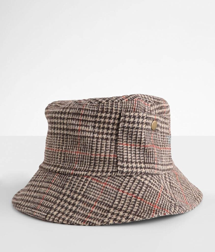 David & Young Houndstooth Bucket Hat front view