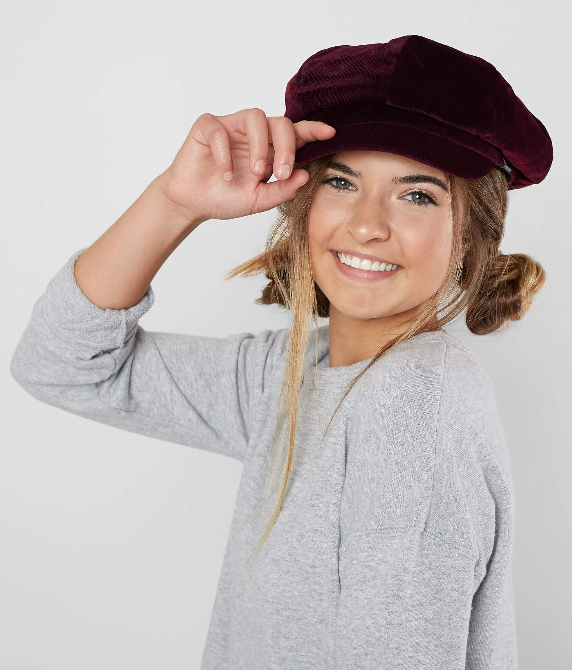 696b1199 David & Young Corduroy Cabbie Hat - Women's Hats in Burgundy | Buckle