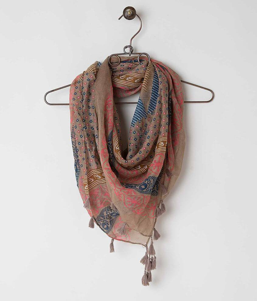David & Young Tassel Scarf front view