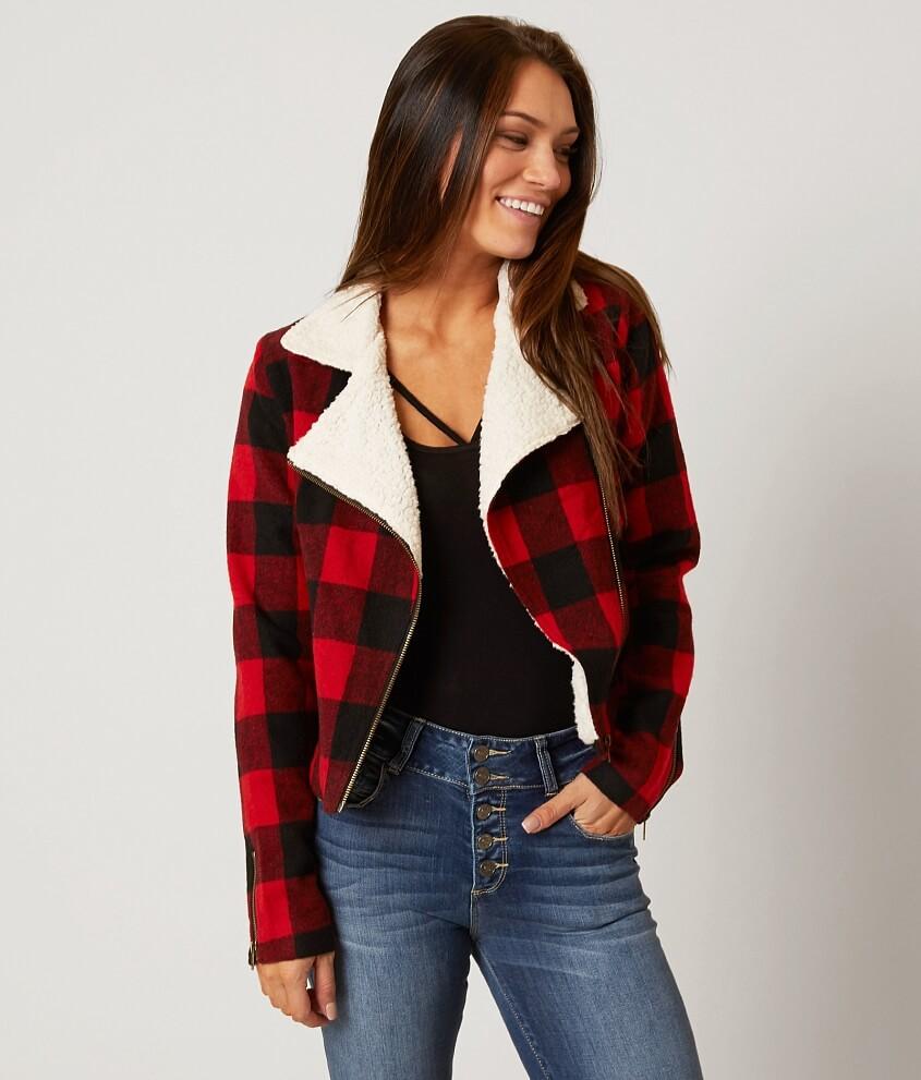 dee elle Plaid Jacket - Women's Coats/Jackets in Red Black | Buckle