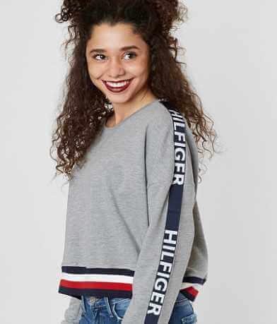 Tommy Hilfiger Logo Cropped Sweatshirt