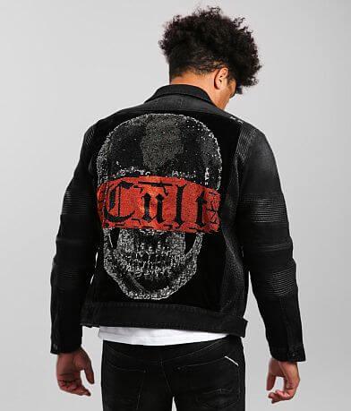 Cult of Individuality Moto II Denim Stretch Jacket