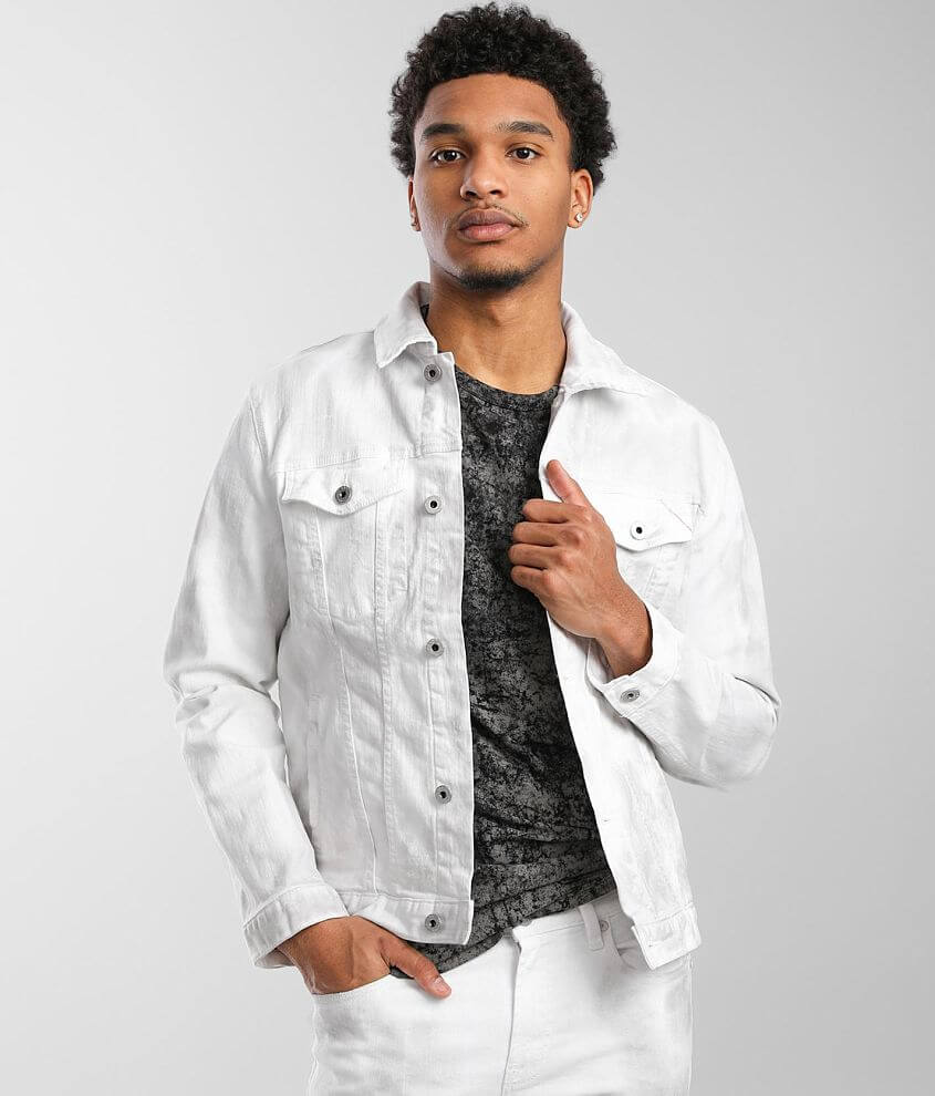Cult of Individuality Type II Denim Stretch Jacket front view