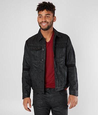 Cult of Individuality Coated Denim Moto Jacket