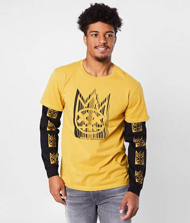 Cult of Individuality Heavy Weight In Gold T-Shirt