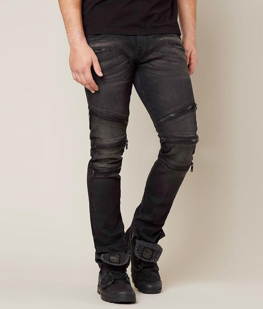 Cult of Individuality Rocker Moto Straight Jean front view