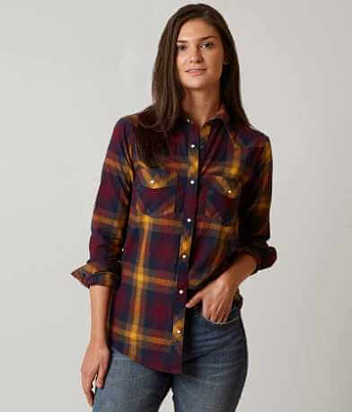 BKE Western Plaid Shirt