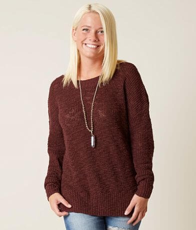 BKE Lace-Up Sweater