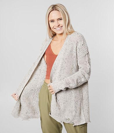 BKE Speckled Cardigan Sweater