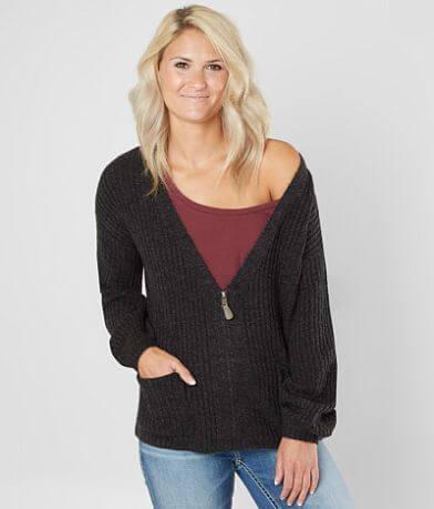 BKE Metallic Cardigan Sweater