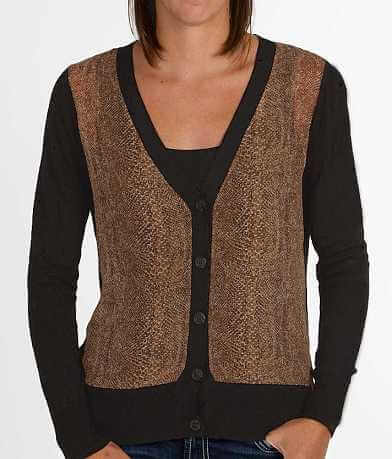 BKE Pieced Cardigan Sweater