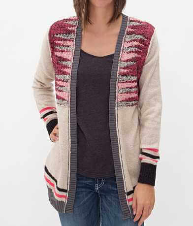 BKE Metallic Cardigan Sweater