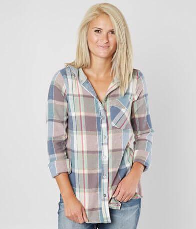BKE Flannel Hooded Shirt