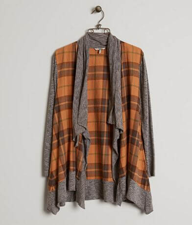 BKE Plaid Cardigan