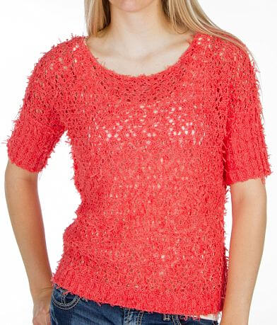 BKE Open Crochet Sweater