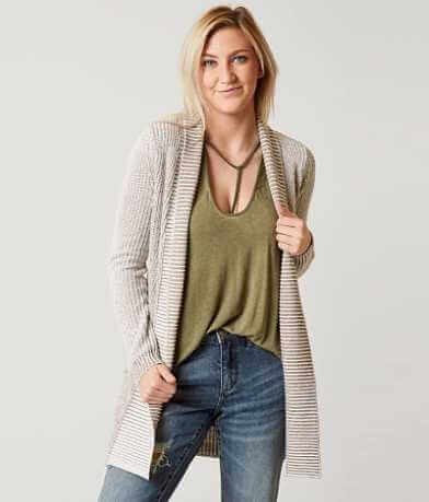 BKE Ribbed Cardigan Sweater