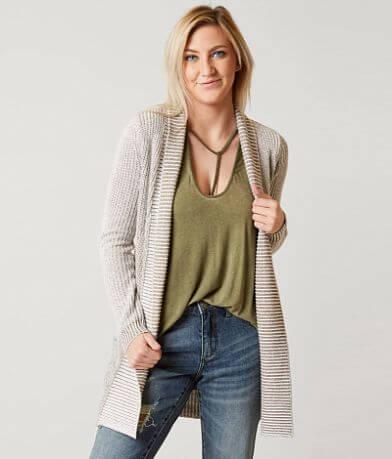 BKE Ribbed Cardigan Sweater